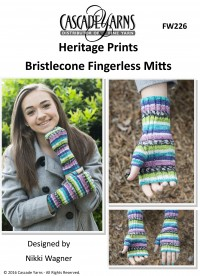 Cascade FW226 - Bristlecone Fingerless Mitts in Heritage Prints (downloadable PDF)