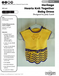 Cascade FW238 - Hearts Knit Together Baby Dress in Heritage (downloadable PDF)