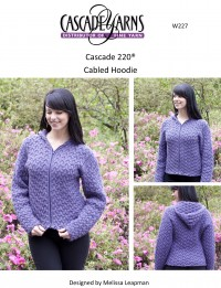 Cascade W227 - Cabled Hoodie in 220 (downloadable PDF)