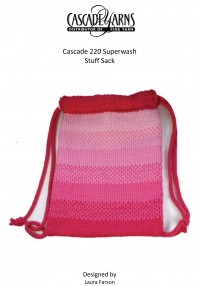 Cascade W276 - Girl's Stuff Sack in 220 Superwash (downloadable PDF)