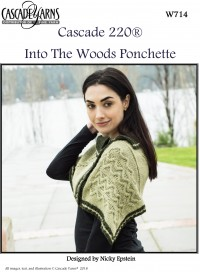 Cascade W714 - Into the Woods Ponchette in 220 (downloadable PDF)