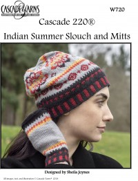 Cascade W720 - Indian Summer Slouch & Mitts in 220 (downloadable PDF)