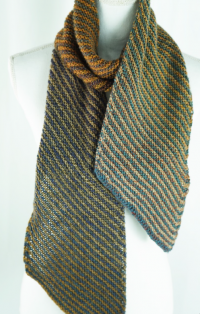 Cascade W790 - Inclination Stripes Scarf in 220 Superwash Wave (downloadable PDF)