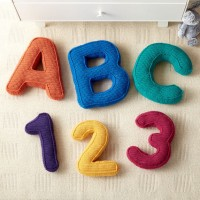 Caron - ABC's and 123's Crochet Pillows in Simply Soft (downloadable PDF)
