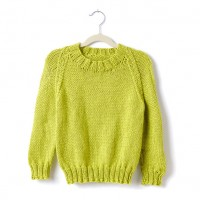 Caron - Adult's Knit Crew Neck Pullover in Simply Soft (downloadable PDF)
