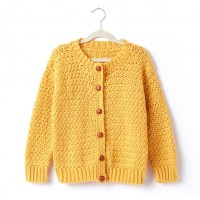 Caron - Adult's Crochet Crew Neck Cardigan in Simply Soft (downloadable PDF)