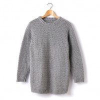 Caron - Adult's Crochet Crew Neck Pullover in Simply Soft (downloadable PDF)