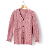 Caron - Adult's Crochet V-Neck Cardigan in Simply Soft (downloadable PDF)