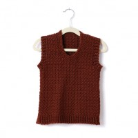 Caron - Adult's Crochet V-Neck Vest in Simply Soft (downloadable PDF)