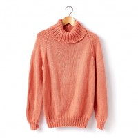 Caron - Adult's Knit Turtleneck Pullover in Simply Soft (downloadable PDF)