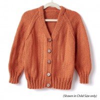 Caron - Adult's Knit V-Neck Cardigan in Simply Soft (downloadable PDF)