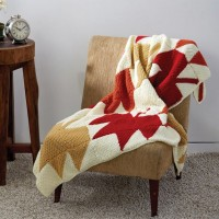 Caron - Autumn Leaves Afghan in Simply Soft (downloadable PDF)
