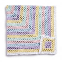 Caron - Baby Blanket Squared in Simply Soft (downloadable PDF)