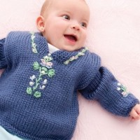 Caron - Baby Folkwear Caftan in Simply Soft (downloadable PDF)