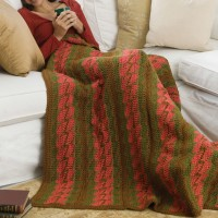 Caron - Bargello Throw in Simply Soft (downloadable PDF)