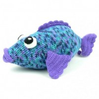 Caron - Big Rainbow Fish in Simply Soft and Simply Soft Paints (downloadable PDF)