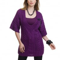 Caron - Cable Tunic in Simply Soft (downloadable PDF)