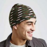 Caron - Camo Hat in Simply Soft Camo (downloadable PDF)
