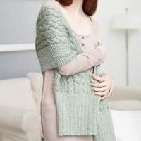 Caron - Celtic Cables Wrap in Simply Soft (downloadable PDF)