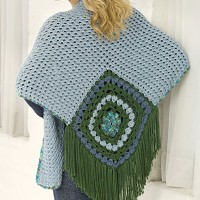 Caron - Center Square Shawl in Simply Soft and Simply Soft Paints (downloadable PDF)