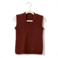 Caron - Child's Crochet V-Neck Vest in Simply Soft (downloadable PDF)