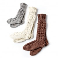 Caron - Cozy Knit Cabin Socks in Simply Soft Tweeds (downloadable PDF)