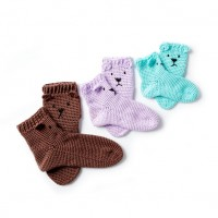 Caron - Crochet Bear Feet Slipper Socks in Simply Soft (downloadable PDF)