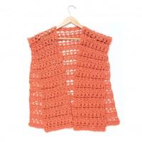 Caron - Crochet Short Ruana Jacket in Simply Soft (downloadable PDF)