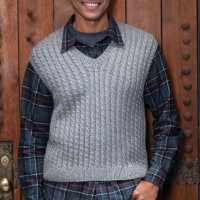 Caron - Dad's Cabled Vest in Simply Soft (downloadable PDF)