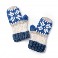 Caron -Fairisle Crochet Mittens in Pantone (downloadable PDF)