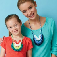 Caron - Finger Knitting Necklace in Simply Soft (downloadable PDF)