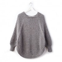 Caron - Great Curves Knit Poncho in Simply Soft Tweeds (downloadable PDF)