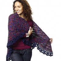 Caron - Harlequin Shawl in Simply Soft (downloadable PDF)