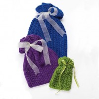 Caron - Knit Gift Bags in Simply Soft Party (downloadable PDF)