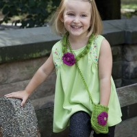 Caron - Necklace and Purse Set in Simply Soft Party (downloadable PDF)