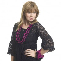 Caron - Rings Around Necklace and Bracelet in Simply Soft, and Simply Soft Party (downloadable PDF)