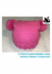 Cygnet 1005 - Simple Chunky Teabag Hat in Cygnet Chunky (downloadable PDF)