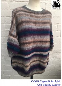 Cygnet 1014 - Chic Slouchy Sweater in Boho Spirit (downloadable PDF)