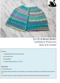 Cygnet 1213 - Harmony Poncho in Boho Spirit (downloadable PDF)