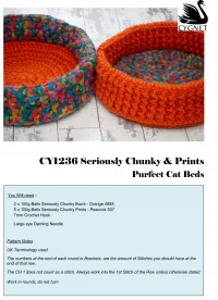 Cygnet 1236 - Purfect Cat Beds in Seriously Chunky & Prints (downloadable PDF)