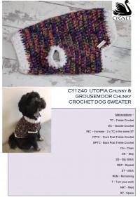 Cygnet 1240 - Crochet Dog Sweater in Utopia Chunky & Grousemoor Chunky (downloadable PDF)