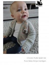 Cygnet 1241 - Pure Baby Stripe Cardigan in Kiddies Supersafe/Pure Baby DK (downloadable PDF)