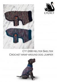 Cygnet 1268 - Crochet Wrap-around Dog Jumper in Helter Skelter & Chunky (downloadable PDF)
