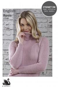 Cygnet 1306 English Rose Sweater in Cygnet DK (leaflet)