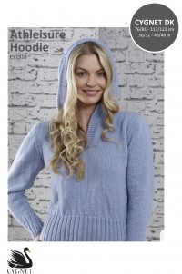 Cygnet 1310 Athleisure Hooded Sweater in Cygnet DK (leaflet)