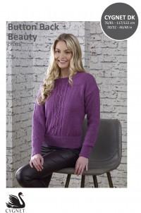 Cygnet 1311 Button Back Beauty Sweater in Cygnet DK (leaflet)