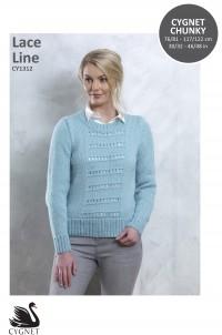 Cygnet 1312 Lace Line Sweater in Cygnet Chunky (leaflet)