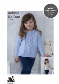 Cygnet 1322 Bobble Up Sweater & Cardigan in Cygnet Pure Baby DK (leaflet)
