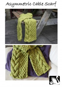 Cygnet - Asymmetric Cable Scarf in Seriously Chunky (downloadable PDF)