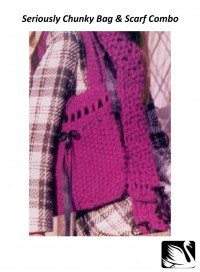 Cygnet - Bag & Scarf Combo in Seriously Chunky (downloadable PDF)